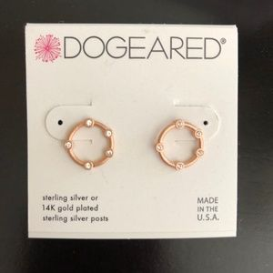 Dogeared 14K Rose Gold Over Silver Earrings